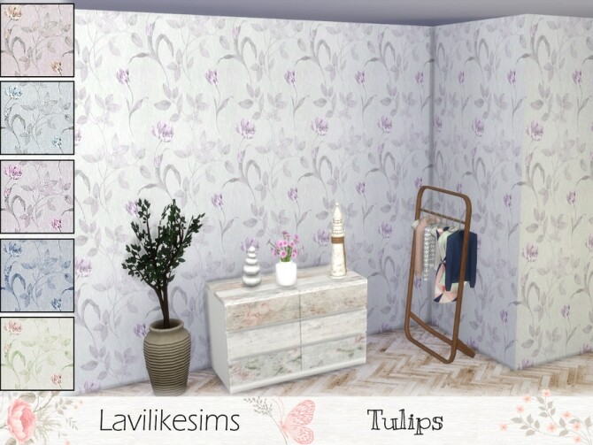 Sims 4 Tulips wallpaper by lavilikesims at TSR