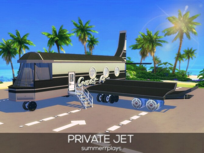 Sims 4 Private Jet by Summerr Plays at TSR