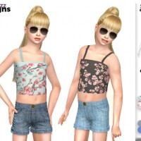 Cropped Vest and Shorts Set by Pinkfizzzzz