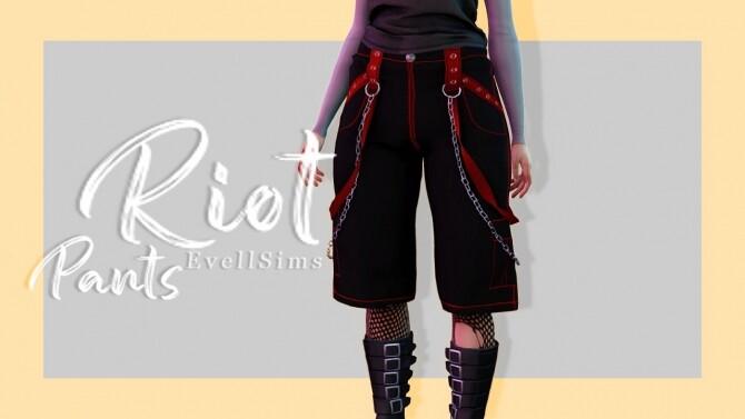 Sims 4 Riot Pants at EvellSims