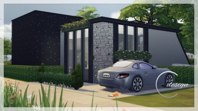 Sims 4 Tiny Concrete Home at Cross Design