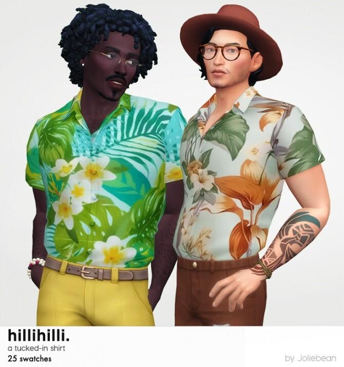 Sims 4 HilliHilli tucked in shirt at Joliebean