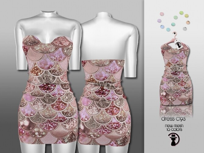 Sims 4 Dress C193 by turksimmer at TSR