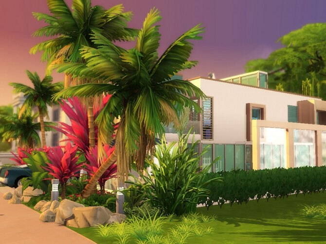 Sims 4 Cubic Falls villa by dasie2 at TSR