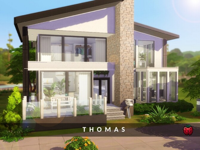 Thomas house by melapples at TSR image 1138 670x503 Sims 4 Updates
