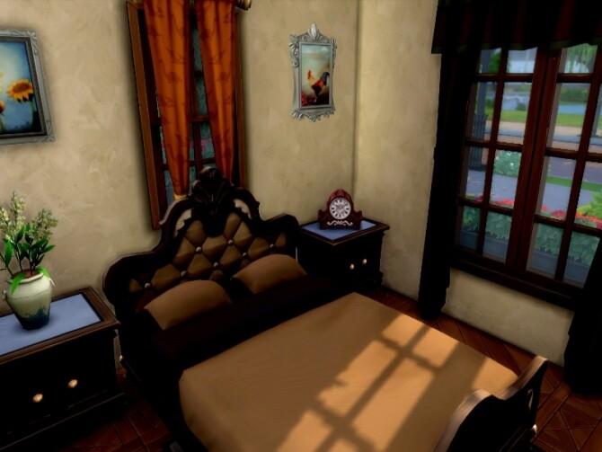 Sims 4 Oak little base game cabin by GenkaiHaretsu at TSR