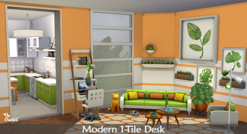 Maxis Match Modern 1 Tile Desk at Simthing New image 1142 Sims 4 Updates