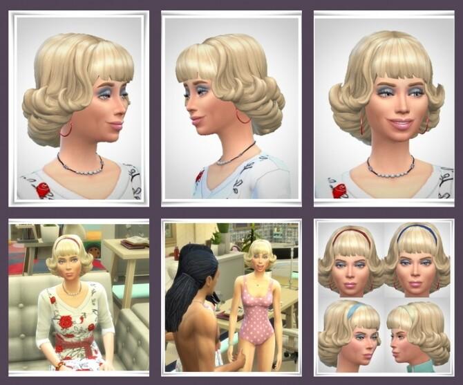 Sims 4 Peggy Hair & HairBand at Birksches Sims Blog