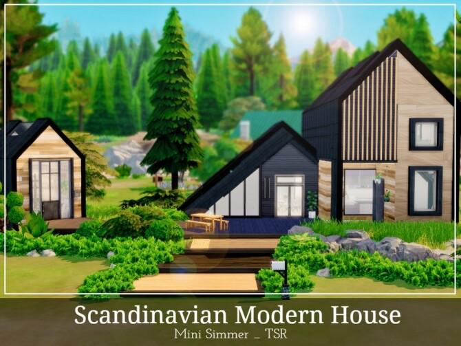Sims 4 Scandinavian Modern House by Mini Simmer at TSR