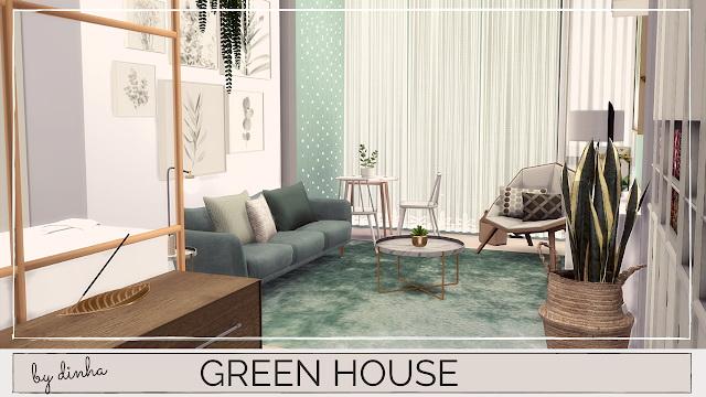 GREEN APARTMENT at Dinha Gamer image 1161 Sims 4 Updates