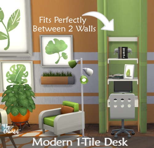 Sims 4 Maxis Match Modern 1 Tile Desk at Simthing New