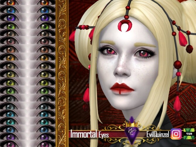 Sims 4 Immortal Eyes by EvilQuinzel at TSR