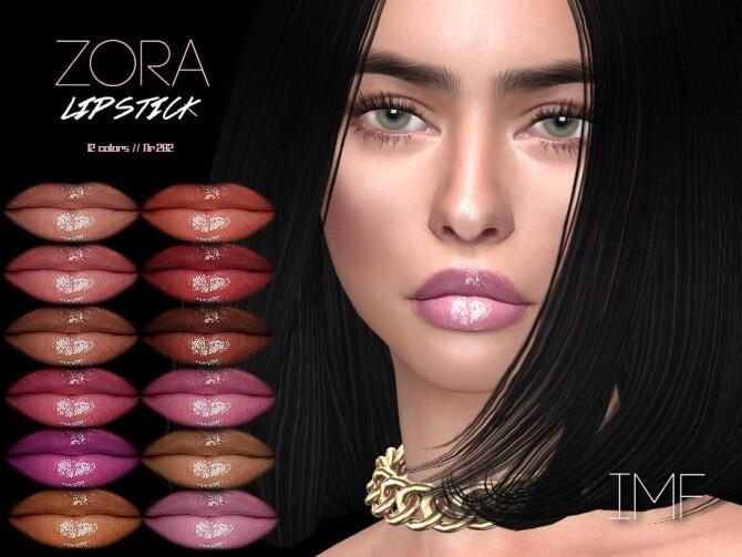 Sims 4 IMF Zora Lipstick N.282 by IzzieMcFire at TSR