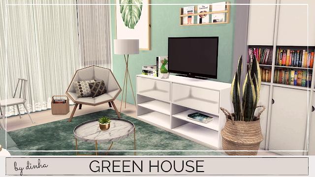 GREEN APARTMENT at Dinha Gamer image 1181 Sims 4 Updates