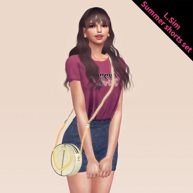 Sims 4 Summer shorts sets at L.Sim
