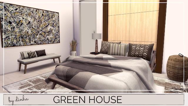 Sims 4 GREEN APARTMENT at Dinha Gamer