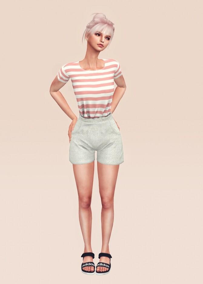 Summer shorts sets at L.Sim image 1192 670x937 Sims 4 Updates