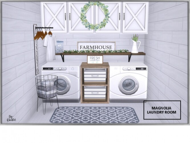 Magnolia Laundry Room by Chicklet