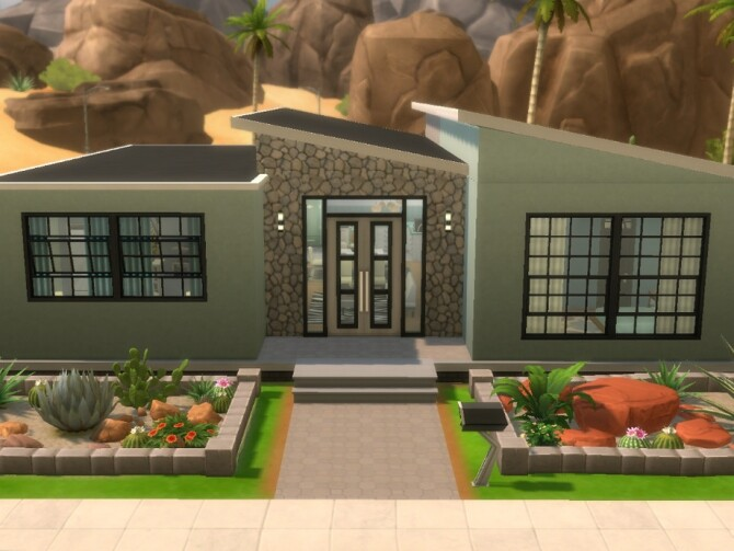 Pistachio Paradise house by Biotic Blue Simmer at TSR image 120 670x503 Sims 4 Updates