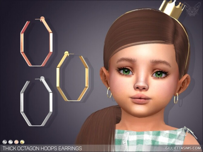 Thick Octagon Hoop Earrings Toddler at Giulietta image 1201 670x503 Sims 4 Updates