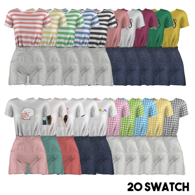 Summer shorts sets at L.Sim image 1202 670x670 Sims 4 Updates