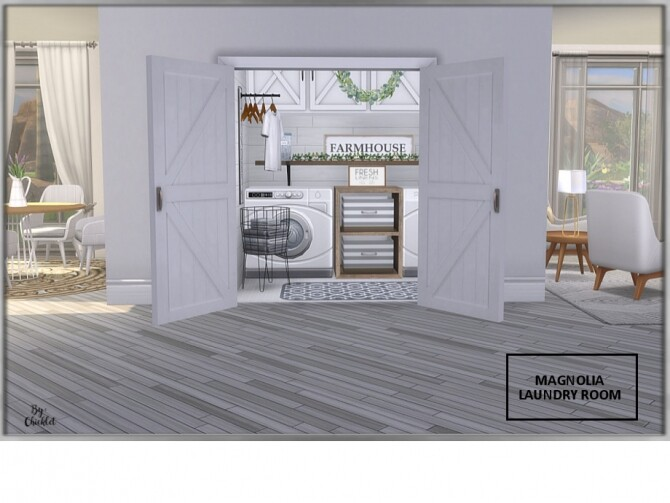 Magnolia Laundry Room by Chicklet at TSR image 1203 670x503 Sims 4 Updates
