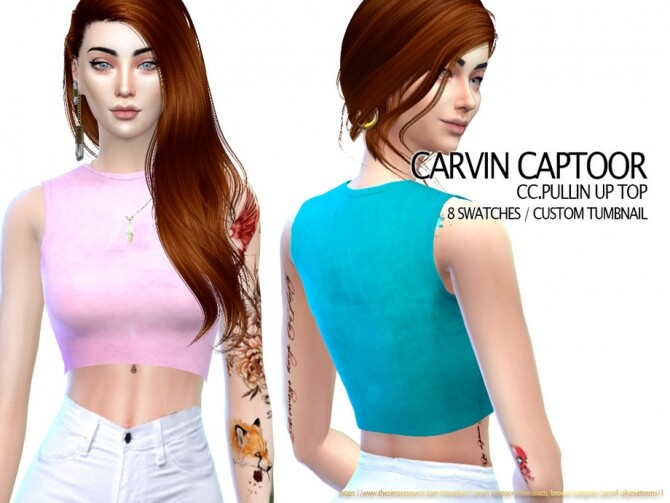 Sims 4 Pullin Up Top by carvin captoor at TSR