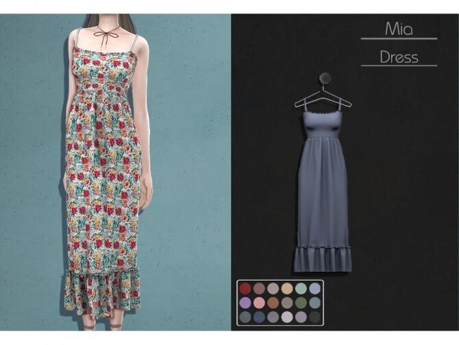 Sims 4 LMCS Mia Dress by Lisaminicatsims at TSR