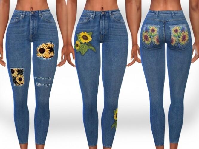 SunFlower PatchWork Gardener Jeans by Saliwa