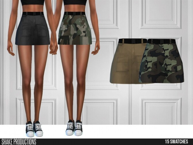 Sims 4 Cargo Skirt by ShakeProductions at TSR