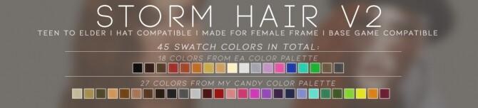 Sims 4 STORM HAIR V2 at Candy Sims 4