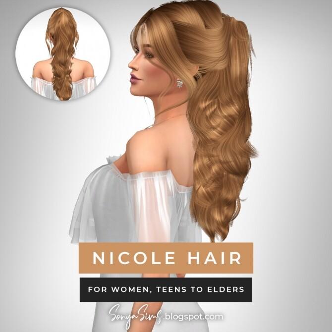 Sims 4 BETH, VICTOR & NICOLE HAIRS at Sonya Sims
