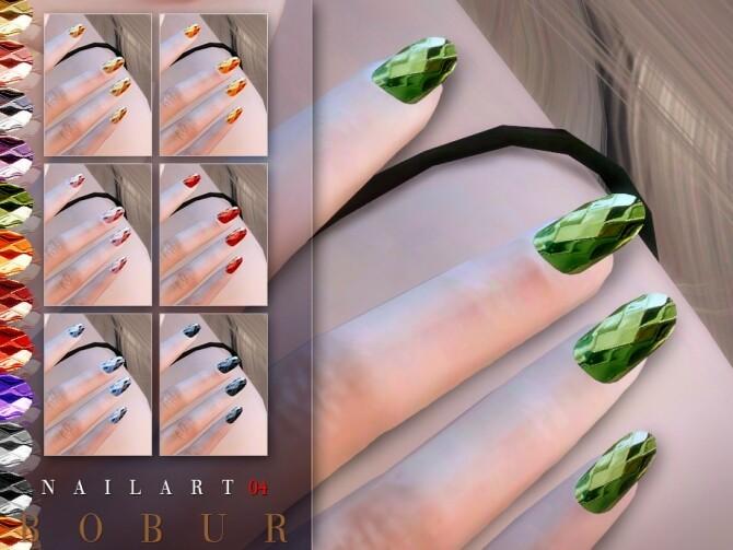 Nails 04 by Bobur3 at TSR image 1256 670x503 Sims 4 Updates