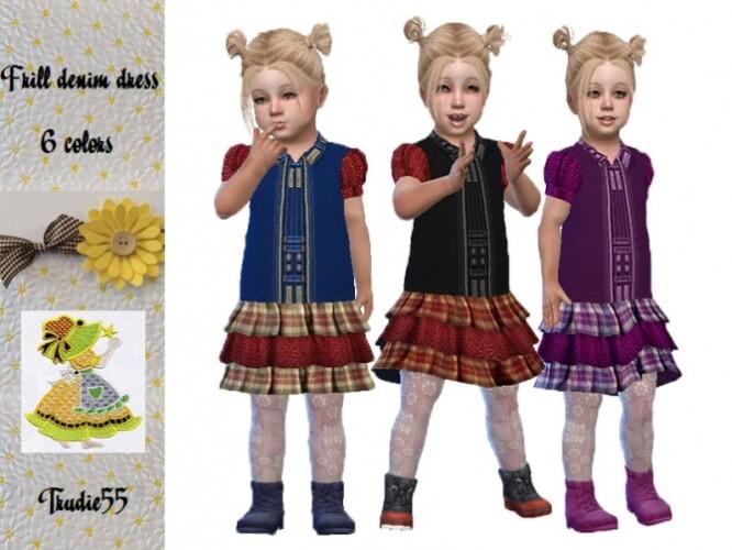 Frill denim dress by TrudieOpp