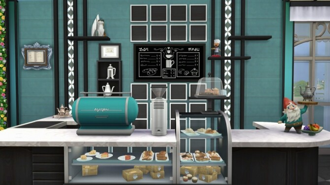 Sims 4 Redesign of the Her n Hedgehog cafe by fatalist at ihelensims