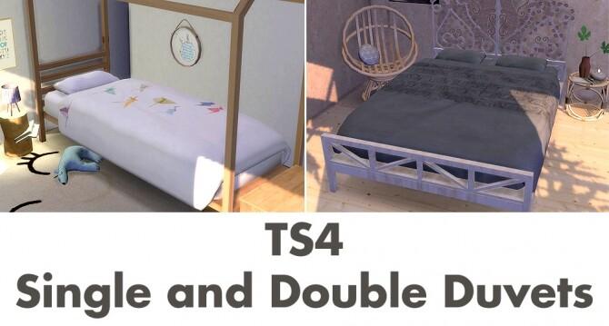 Sims 4 Recolors of ATS Sandy's mattress at Riekus13