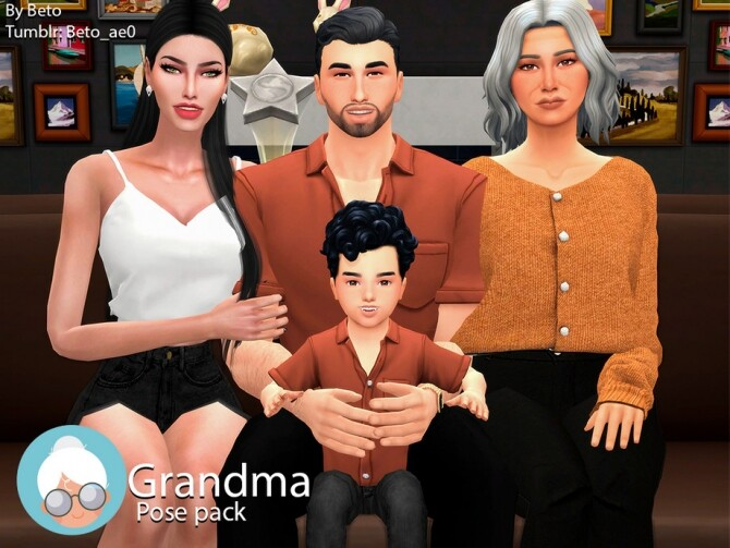 Grandma Pose pack by Beto ae0 at TSR image 129 670x503 Sims 4 Updates