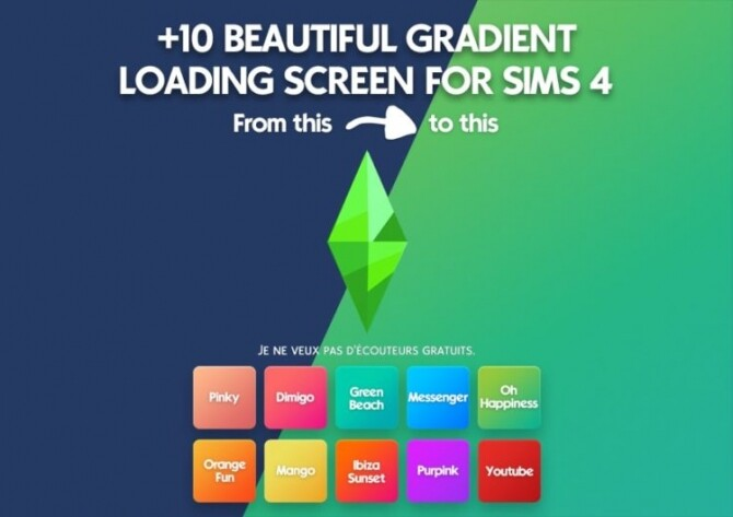 Sims 4 +10 beautiful gradient loading screen at DH4S