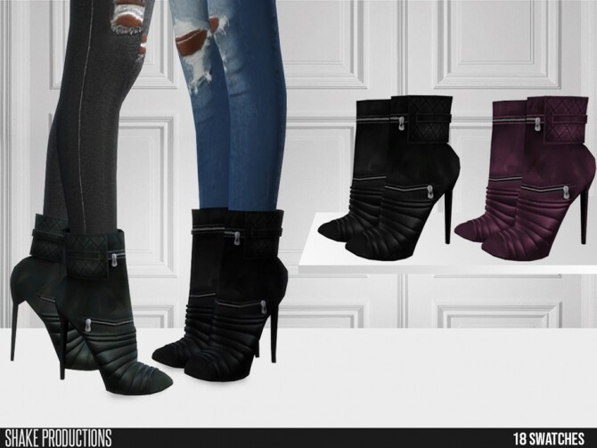 Sims 4 504 Leather Boots by ShakeProductions at TSR