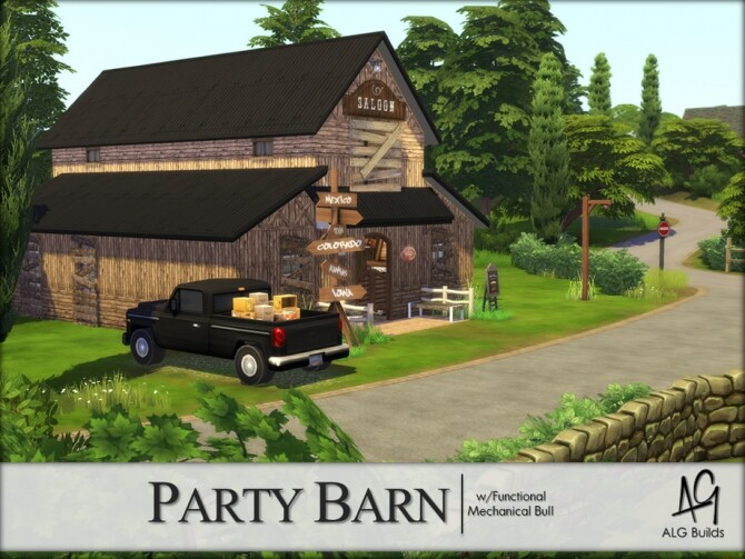 Sims 4 Party Barn by ALGbuilds at TSR