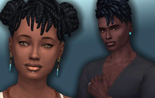 Sims 4 Natural Lips for Dark Skintones at Frenchie Sim