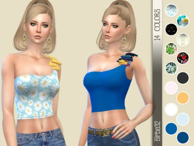 One Shoulder Bow Top by Birba32