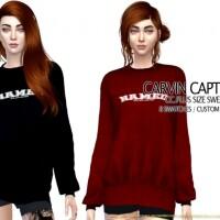 Plus size sweatshirt by carvin captoor