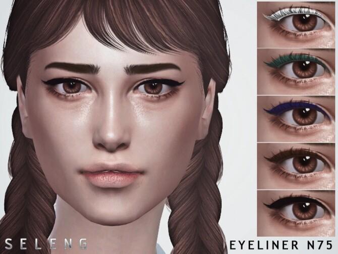 Sims 4 Eyeliner N75 by Seleng at TSR
