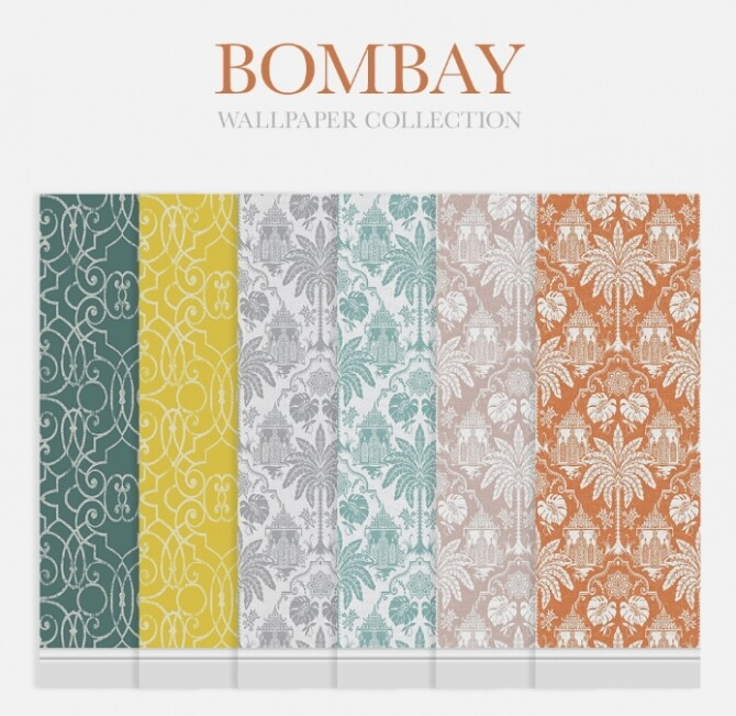 Bombay Wallpaper Collection at SimPlistic image 13513 670x651 Sims 4 Updates