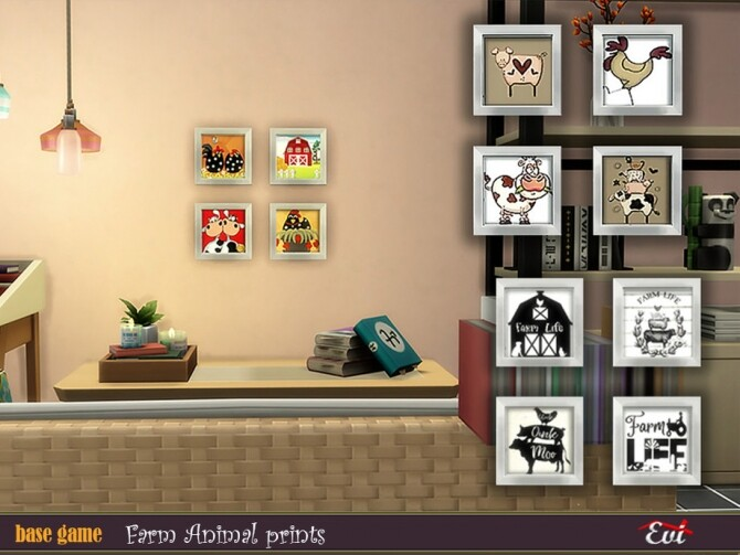 Sims 4 Farm animal prints by evi at TSR