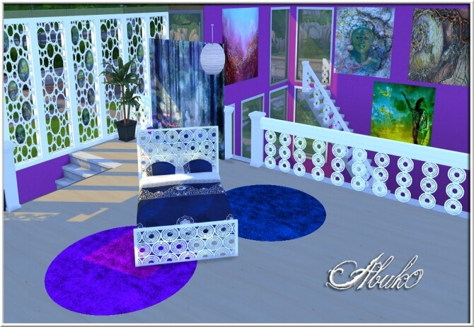 Bulatan window fence railing bed paintings