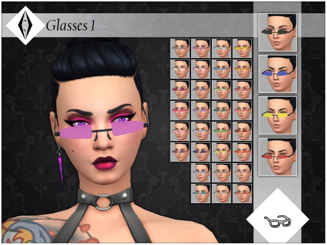 Sims 4 Glasses 1 by AleNikSimmer at TSR