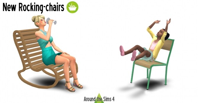 Sims 4 Rocking chairs by Sandy at Around the Sims 4