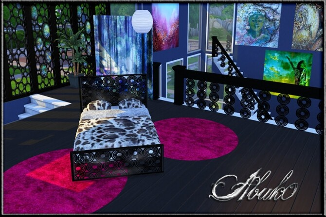 Sims 4 Bulatan: window, fence, railing, bed & paintings at Abuk0 Sims4